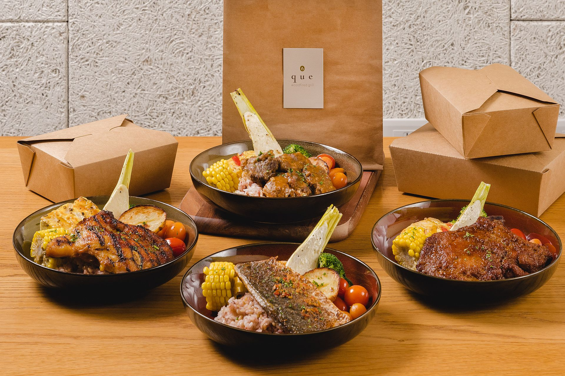 amba Taipei Songshan hotel Que restaurant super value bento boxes takeout free delivery and food delivery service