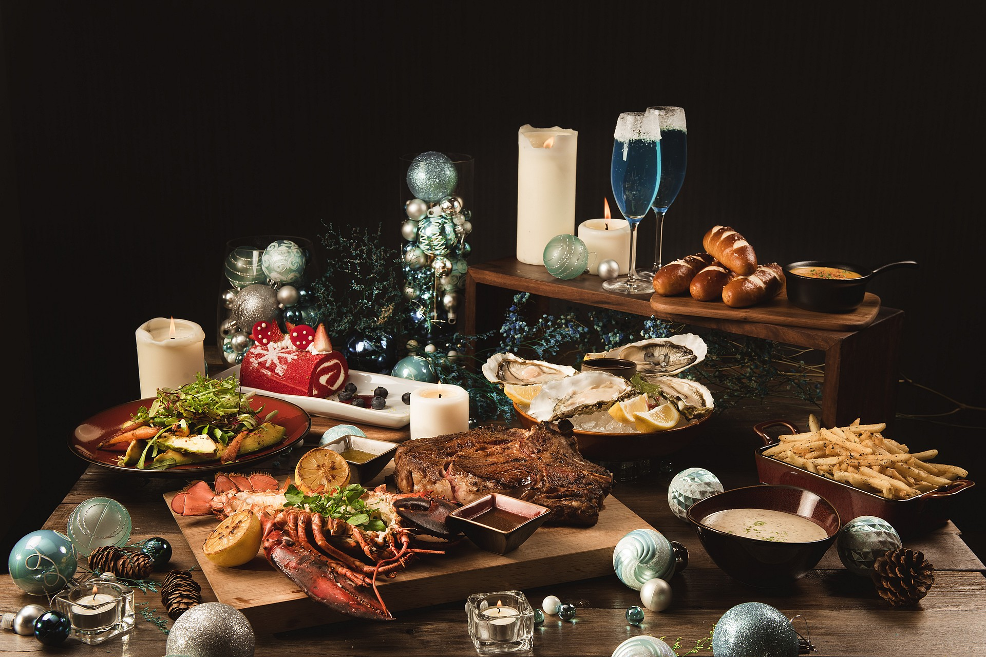 amba Taipei Songshan Hotel Que woodfired grill winter wonderland christmas dinner