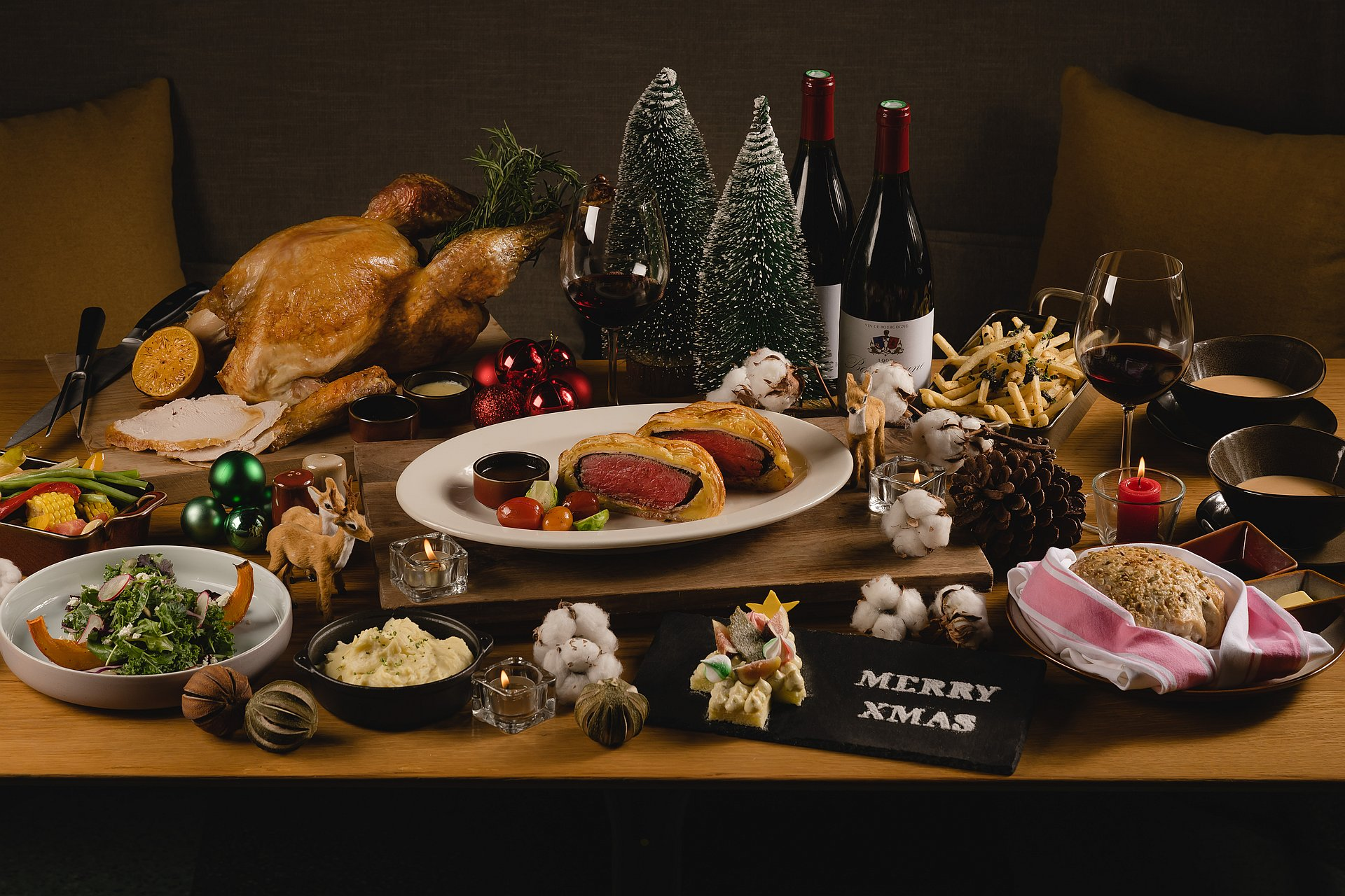 amba Taipei Songshan hotel Que woodfired grill 2020 winter wonderland christmas dinner