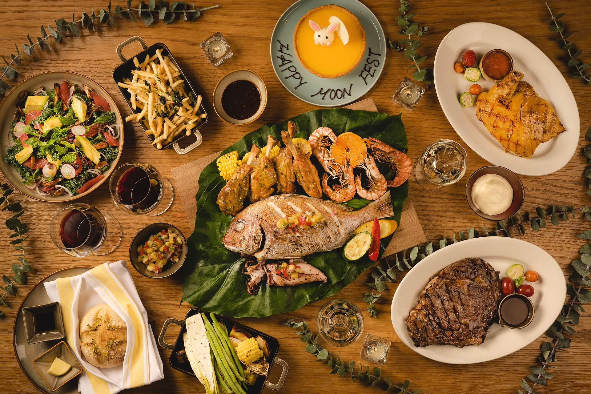 amba Taipei Songshan Que woodfired grill Mid-Autumn Festival Grilled Surf & Turf Sharing Menu
