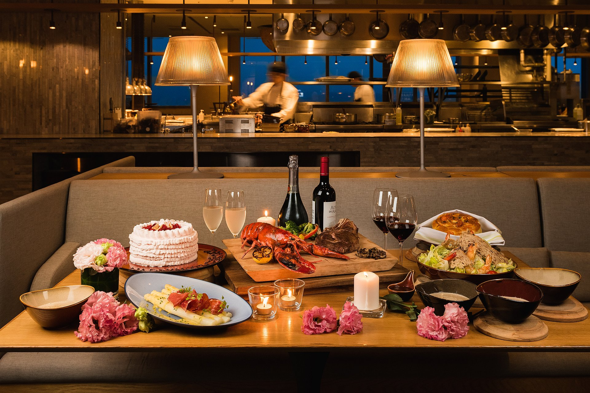 amba Taipei Songshan Hotel Que woodfired grill 2019 Mother's Day special menu for four