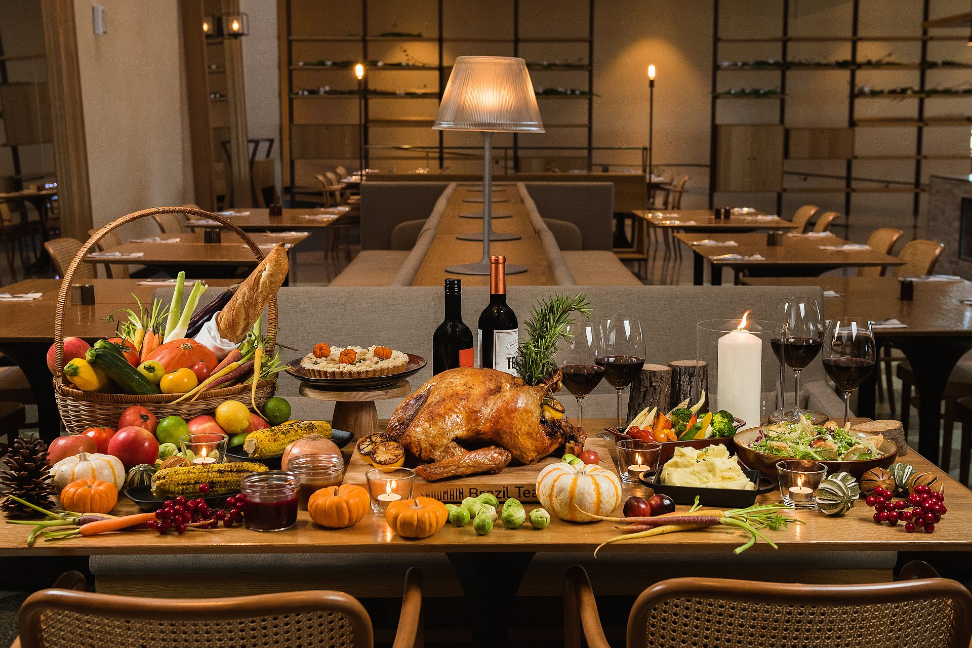 amba Taipei Songshan Hotel Que woodfired grill Thanksgiving dinner and Thanksgiving gourmet gift hamper