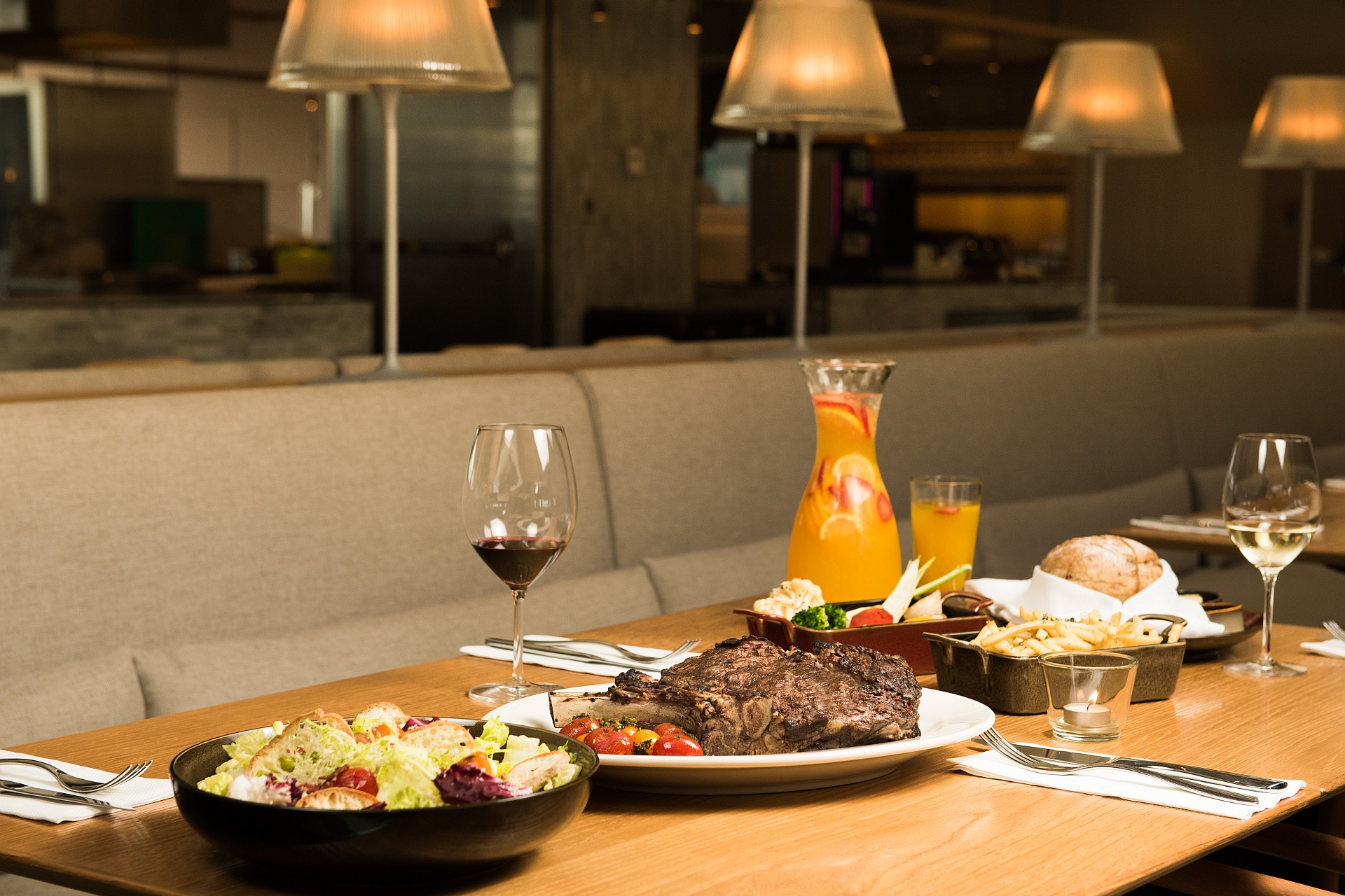 amba Taipei Songshan Que woodfired grill steak special for four: 35oz US natural Brandt Ribeye