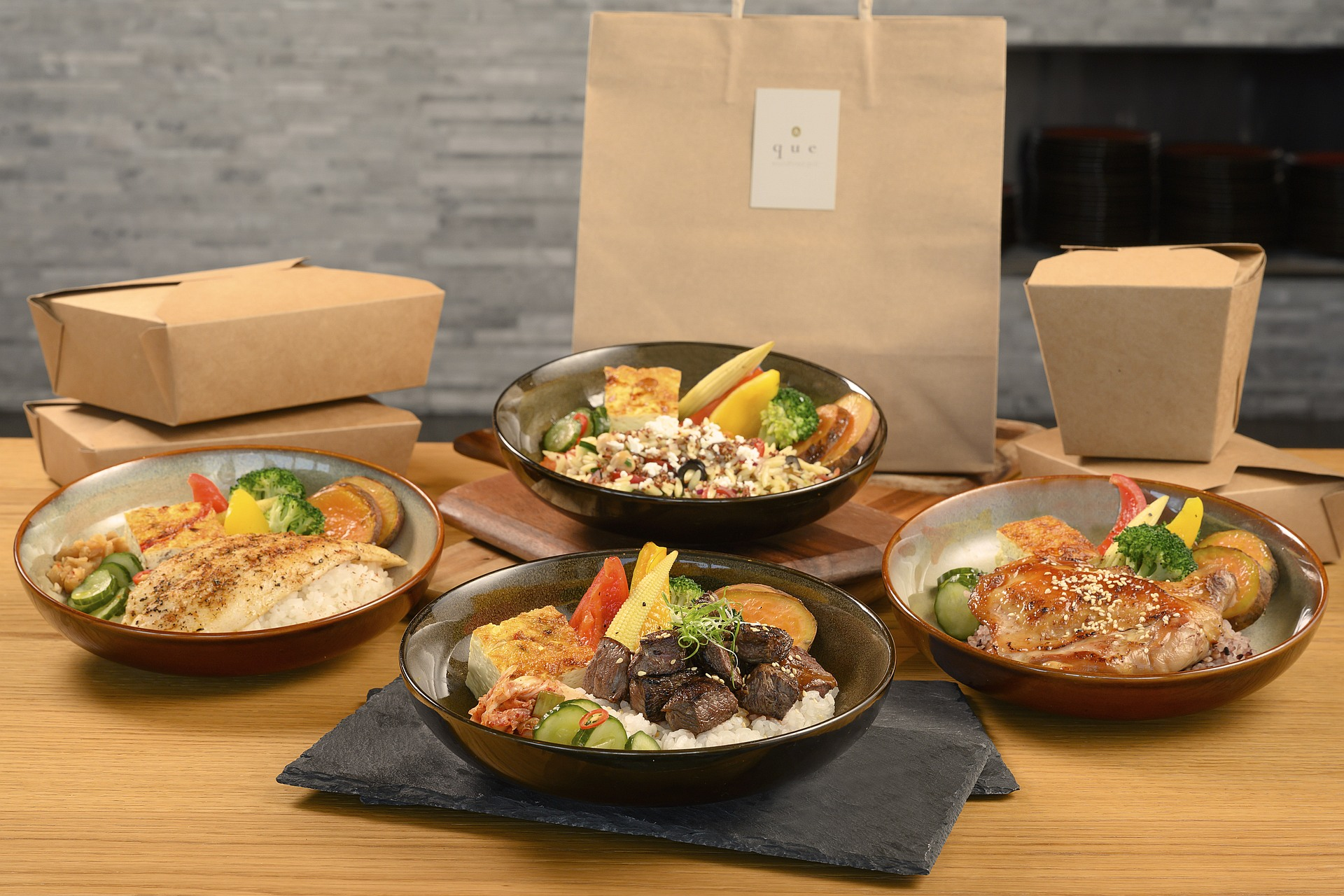 amba Taipei Songshan hotel Que restaurant super value bento boxes takeout and food delivery service
