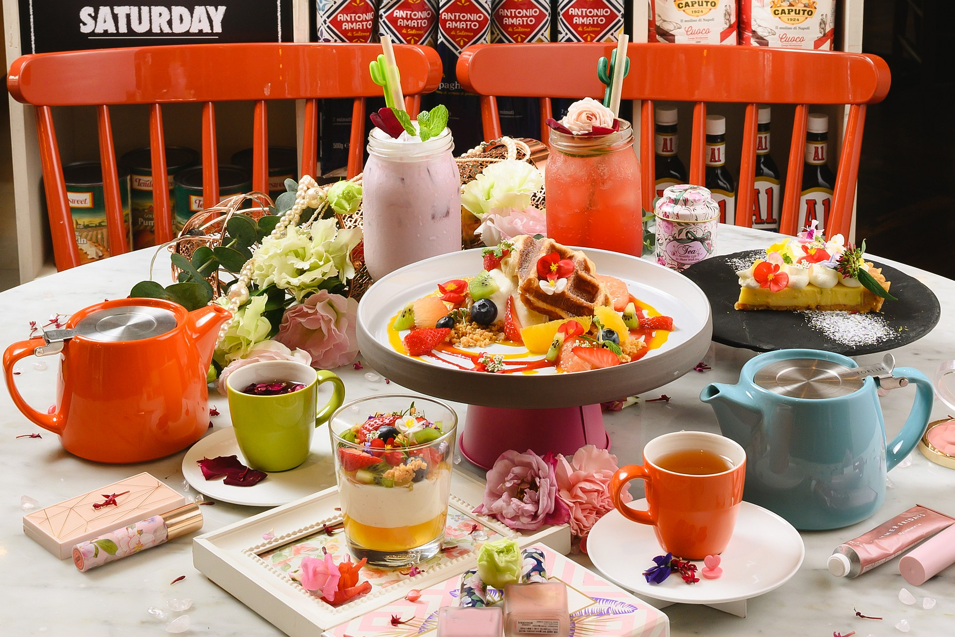 amba Taipei Zhongshan hotel Buttermilk restaurant colorful springtime treats